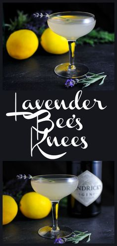 Bee's Knees Cocktail: Gin, Lavender Simple Syrup, honey and lemon juice! #gincocktails