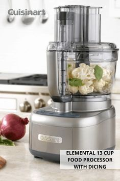 Hosting and feeding guests is simple with our Elemental 13 Cup Food Processor with Dicing! With a workbowl that is big enough for party-sized portions, you'll have your favorite dips and spreads ready in no time. The dicing feature also takes the pressure of prepping off of your hands. #foodprocessor #foodprocessorrecipes #hostingtips #cuisinart #savorthegoodlife Food Processor Recipes, Spreads, Dips, Prepping, Hands, Simple, Party, Sauces, Dip