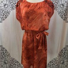 "Michael Kors Dress Pretty summer dress! Elastic waist with sash (belt). Short Sleeves size Small. Fits more like a medium. Loose top measures: 20"" across. Length from shoulders to trim 36"" MICHAEL Michael Kors Dresses Mini"