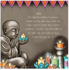 """Buy the beautiful """"Shine"""" affirmation canvas print from New Age Markets. This unique 30 x design by artist Lisa Pollock features inspirational text. Mormon Messages, Buddha Canvas, Law Of Love, Buddha Tattoos, Light Quotes, Let Your Light Shine, L And Light, Pretty Images, Canvas Quotes"""