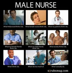 Men Nurses, is THIS what people think you do?