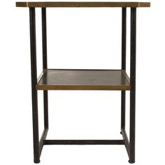 Brass, Copper and Steel Side Table   1stdibs.com