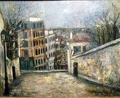 utrillo paintings | Rue Du Mont 1914 | Maurice Utrillo | Oil painting reproductions
