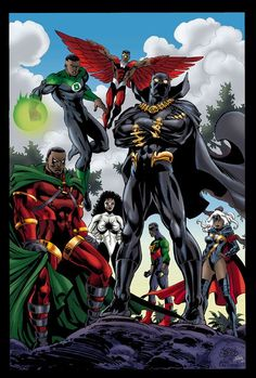 The Black Avengers: Would it work? Black Anime Characters, Comic Book Characters, Comic Book Heroes, Marvel Characters, Comic Character, Comic Books Art, Comic Art, Black Avengers, Avengers Comics