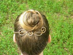 Hair Accessories Gold Hair Clip Hair Barrette by ElizabellaDesign, $22.00