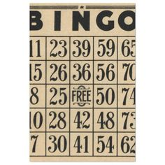 Vintage bingo cards decorative ephemera art cards 3 in all Bingo Party, Vintage Ephemera, Vintage Cards, Vintage Labels, Vintage Sewing, All Craft, Letters And Numbers, Cute Designs, Tissue Paper