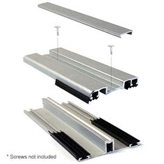 MegaLock Aluminum Glazing System - Polycarbonate Panel Installation Accessories