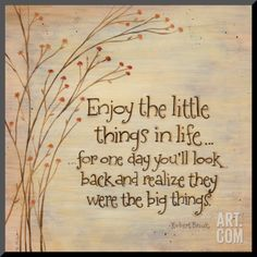 Enjoy The Little Things Mounted Print by Karen Tribett at eu.art.com