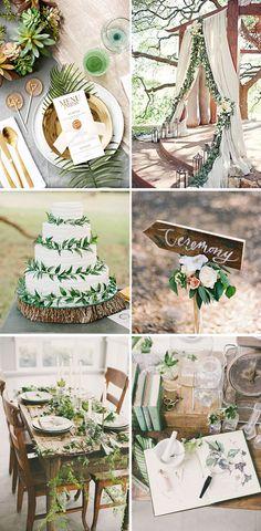 Inspiración bodas 2017: Bodas botánicas