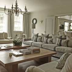 Symmetrical sitting room with twin coffee tables | Explore this elegant country home in Hertfordshire | PHOTO GALLERY | Homes & Gardens | Housetohome.co.uk