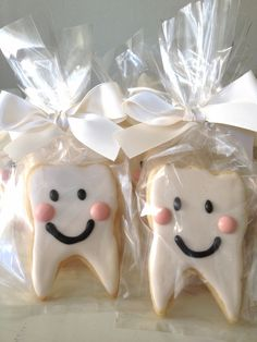 Teething Party Tooth Teeth Sugar Cookies by Fancy Batter www.facebook.com/fancybatter