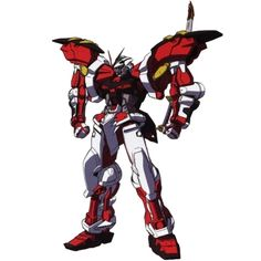"""The MBF-P02 Gundam Astray Red Frame """"Powered Red"""" is a Mobile Suit in the manga Gundam SEED Astray R and in the Mobile Suit Gundam SEED Destiny Astray R photonovel."""