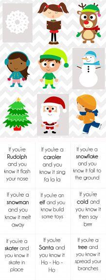 Printable Christmas Song Cards Game for Kids