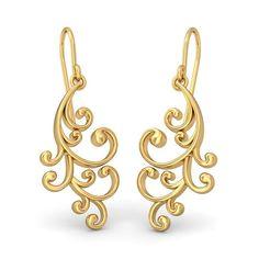 The Artistic Twirl Earrings   Earring In 18Kt Yellow Gold