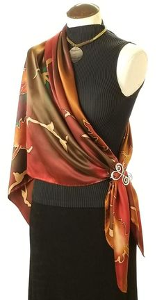 Cashmere Silk Scarf - Winds in the Woods by VIDA VIDA 89Z6Cv0Nb