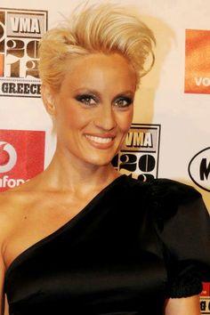 Eleonora Meleti- Short hair Hair & make-up by Panos Kallitsis