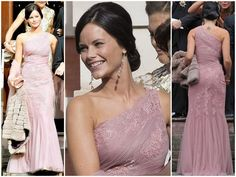 MYROYALS HOLLWOOD:  Sophie Hellqvist, girlfriend of Prince Carl Philip of Sweden, in a Milagro de Nahrin dress