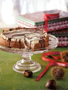 Γλυκιά τάρτα με κρέμα κάστανο και σάλτσα σοκολάτας #τάρτα #κάστανο