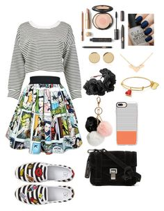 """""""Stripes"""" by shababy0403 on Polyvore featuring Boohoo, BP., Proenza Schouler, GUESS, Casetify, Magdalena Frackowiak and OPI"""