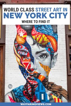 Take a tour of street art in New York that covers Brooklyn and Manhattan. This NYC mural guide includes a free map. New York City street aesthetic | NYC graffiti | New York City street art murals | New York City graffiti artists | New York City street art map | Murals in Brooklyn | Murals in SoHo NYC | Brooklyn street art | Tristan Eaton mural Audry Hepburn Street Art News, Best Street Art, Street Artists, Graffiti Artists, New York Travel, Travel Usa, New York Street, New York City, New York Graffiti