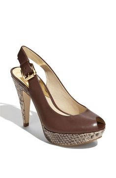 MICHAEL Michael Kors 'Tracey' Pump. Wonder if they have a knock-off at Payless....so cute!