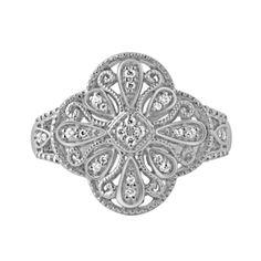 Silver Clover Diamond Ring Steven Singer Jewelers