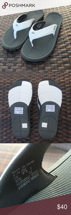48e9a5240870e6 Shop Men s REEF Gray White size Men s 9 Sandals   Flip-Flops at a discounted  price at Poshmark.