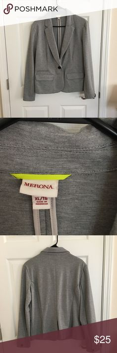 Gray blazer Gently worn. Great Condition. Perfect for job interviews and professional settings. Offers are welcome Merona Jackets & Coats Blazers