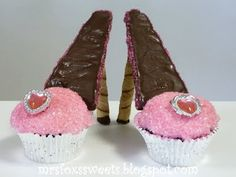 High Heeled Cupcakes: Whether it be for Mother's Day, a girlie girl party, princess party, or just for fun, these High Heeled Cupcakes are sure to be the talk of the party!