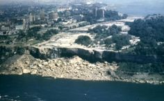 Niagara Falls: American Falls without water in 1969