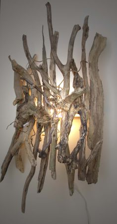 Driftwood sconce .. neat application!!!