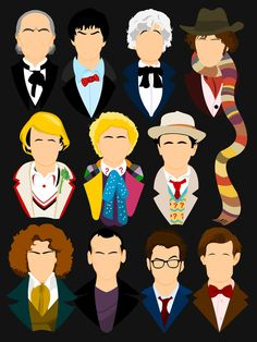 11 faces of Doctor Who.  I vaguely remember 2 & 3.  I know I watched 4.  I don't know where I was when 5,6,7 & 8 were on the air.  I love 9,10 & 11