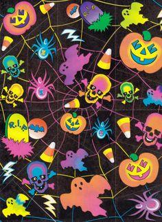 "leviathanhomecooking: "" Lisa Frank Halloween by Nicole "" Halloween Skull, Holidays Halloween, Scary Halloween, Vintage Halloween, Happy Halloween, Halloween Decorations, Halloween Inspo, Kawaii Halloween, Halloween Quotes"