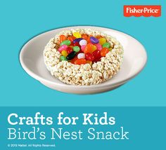 Easy crafts for kids – your kids will love shaping this Bird's Nest snack … it's delicious and fun to share!