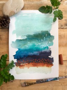 Likes, 22 Comments - Laura Horn (Laura Horn Art - Mixed Media Painting) on. Likes, 22 Watercolor Art Lessons, Watercolor Art Paintings, Watercolor And Ink, Watercolor Landscape, Watercolour On Canvas, Watercolours, Abstract Watercolor Tutorial, Watercolor Artists, Painting Lessons