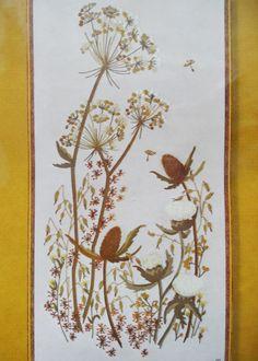 Beautiful Autumn Thistles Wild Flowers Vtg 1977 Sunset Crewel Embroidery Kit NIP | eBay