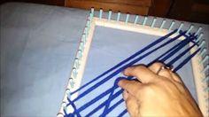 Como Tejer en Telar Cuadrado un Tejido Diagonal