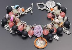 St. Rose of Lima Religious Christian Catholic Bracelet Jewelry w/ Saints Medals. Representing the patron saint of vanity! Also, my confirmation name is Rose.