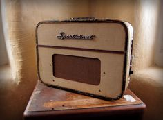 Vintage suitcase tube guitar amp.