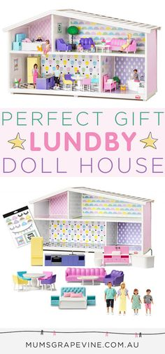 Lundby Creative House doll house for imaginative play. The miniature world of dolls just got more creative with a doll's house that can be designed and styled by the very child who'll spend years playing with it.