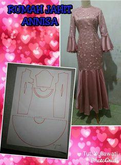 Gaun Dress, Cotton Saree Blouse Designs, Brokat, Fashion Design Sketches, Abaya Fashion, Dress Sewing Patterns, Blouse Dress, Kebaya, Beautiful Dresses