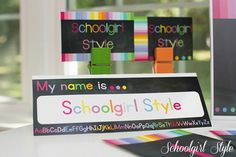 Rainbow Chalkboard Collection by Schoolgirl Style Classroom decor Classroom decorating with bright colors and classic black chalkboard www.schoolgirlstyle.com Classroom Decor Themes, New Classroom, Classroom Organization, Classroom Ideas, Class Decoration, School Decorations, Rainbow Theme, Rainbow Baby, Chalkboard Classroom