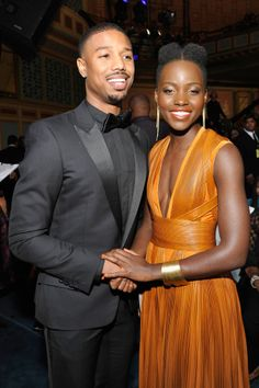 Lupita and Michael B. Jordan had a cute hand-holding moment at the NAACP Image Awards.