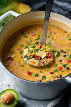 Creamy Mexican Corn Chowder - Cooking Classy
