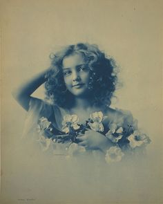 """Photo of young girl, """"Editha,"""" from 1903.  Some people you just know will turn out ok!"""