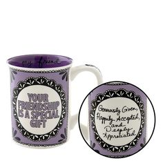 Pottery Mugs - Your Friendship is a Special Gift Mug - Our Name Is Mud Hand Painted Giftware ONM4041743 #FineGifts #PotteryMugsGiftOurNameIsMud
