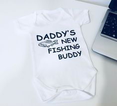 If there is an error on my part, I will fix the issue. Body Grow, Baby Vest, Suit Vest, Daddy Gifts, Baby Body, Newborn Gifts, Personalized Baby, Kids Fashion, Fishing