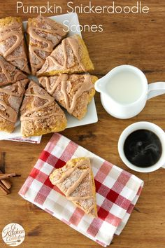 Pumpkin Snickerdoodle Scones Recipe l www.a-kitchen-addiction.com
