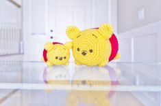 Disney Tsum Tsum Winnie the Pooh Medium Crochet Amigurumi Plush Kawaii Crochet, Crochet Disney, Cute Crochet, Crochet For Kids, Crochet Patterns Amigurumi, Crochet Dolls, Crochet Yarn, Disney Tsum Tsum, Disney Pixar