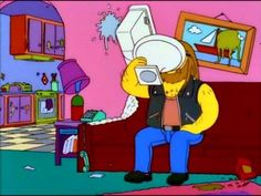 Goes down smooth. Goat Cartoon, Cartoon Pics, Simpson Wave, Bart Simpson, Simpsons Meme, The Simpsons, Homer And Marge, Cartoon Background, Batman